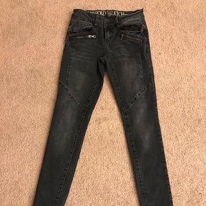 Rewash Dark Wash Zipper Skinny Jeans